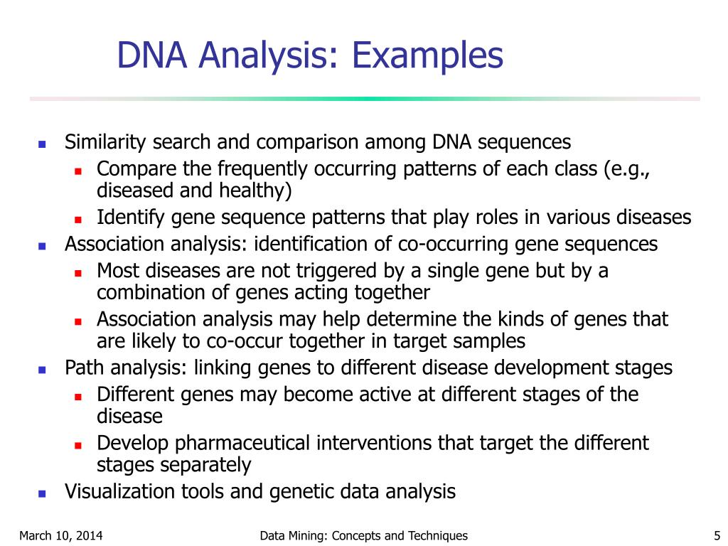 DNA Analysis: Examples