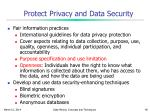 protect privacy and data security