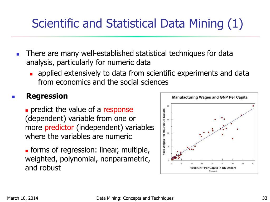 Scientific and Statistical Data Mining (1)
