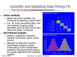 scientific and statistical data mining 4