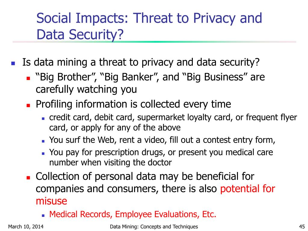 Social Impacts: Threat to Privacy and Data Security?