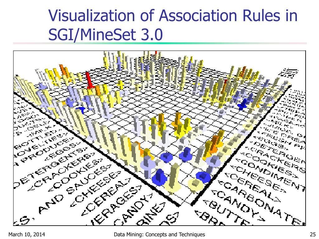 Visualization of Association Rules in SGI/MineSet 3.0