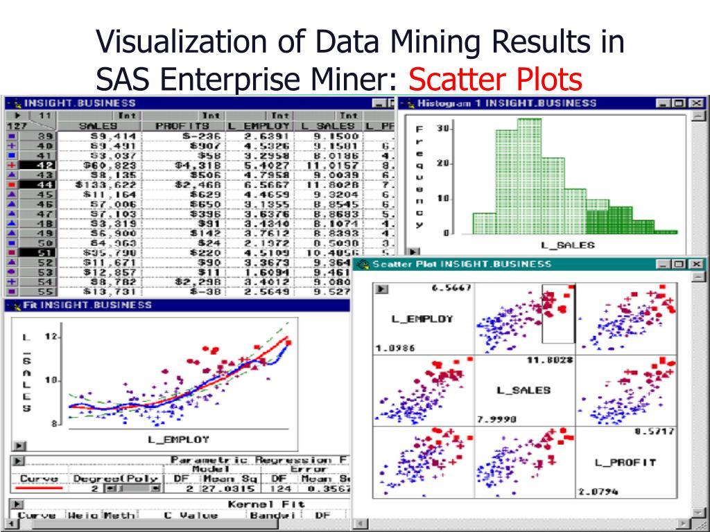Visualization of Data Mining Results in SAS Enterprise Miner: