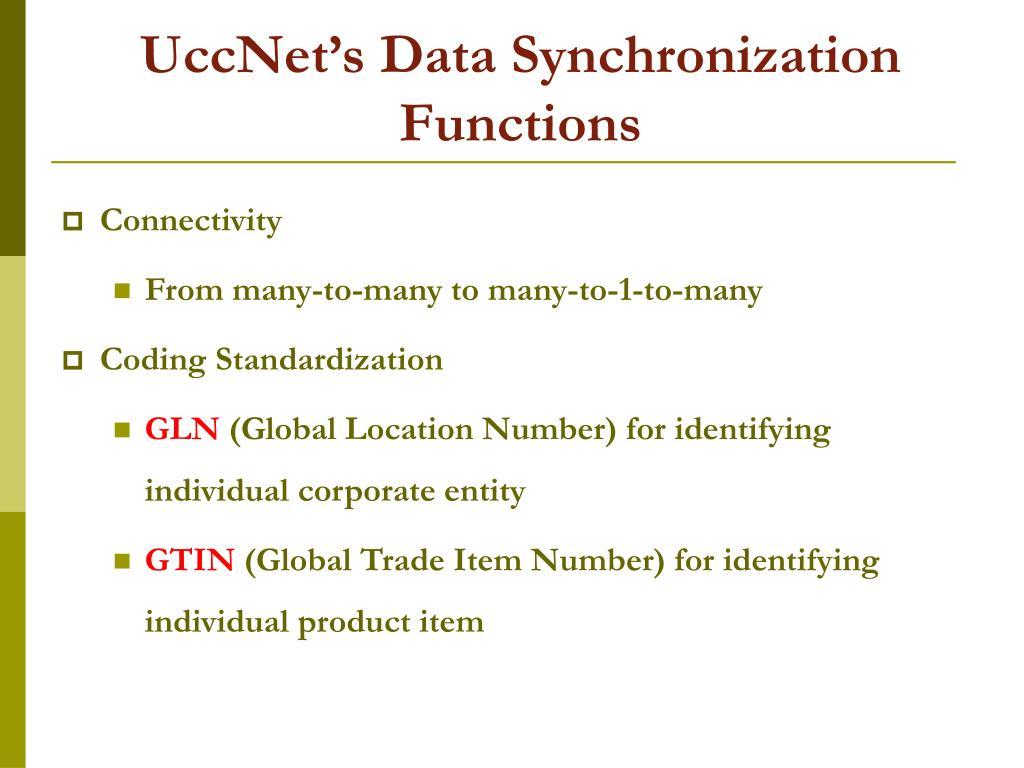 UccNet's Data Synchronization