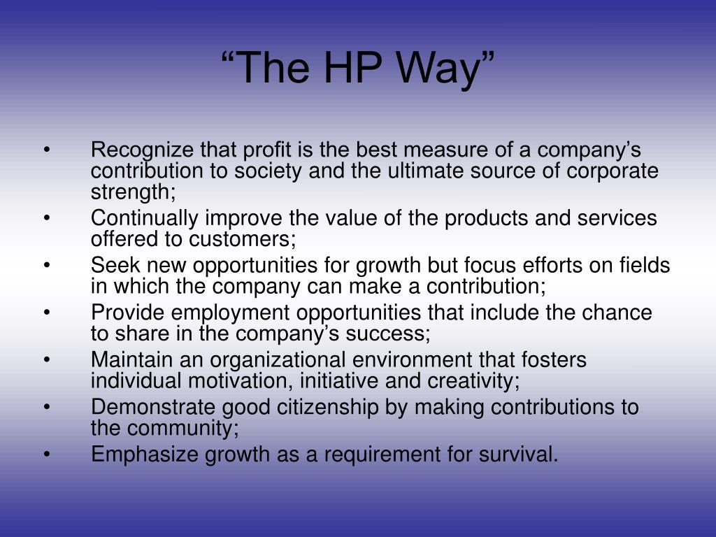 """The HP Way"""