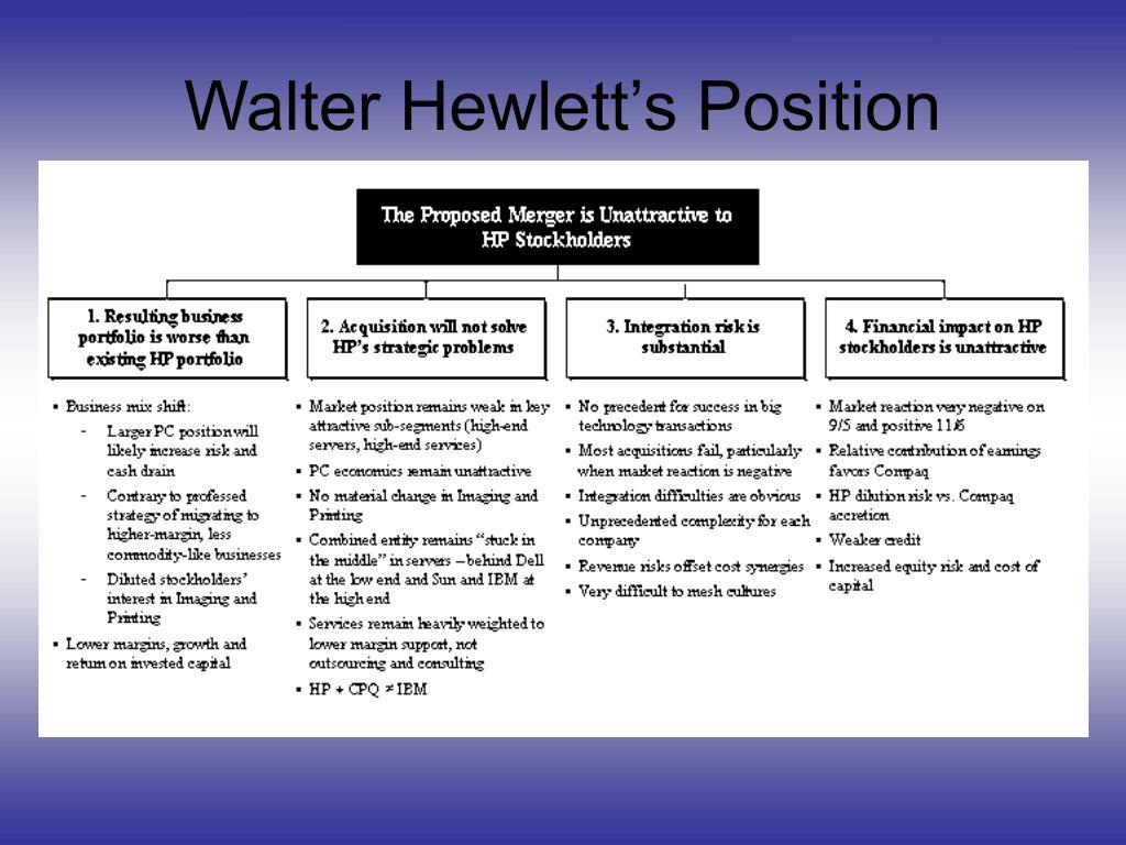 Walter Hewlett's Position