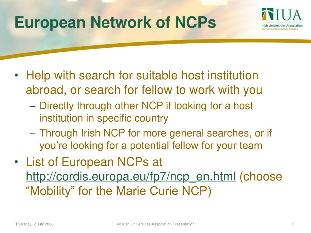 Help with search for suitable host institution abroad, or search for fellow to work with you