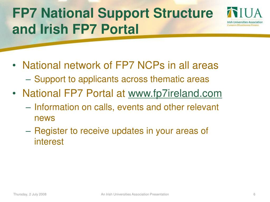 National network of FP7 NCPs in all areas