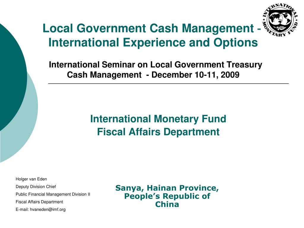 International Monetary Fund Fiscal