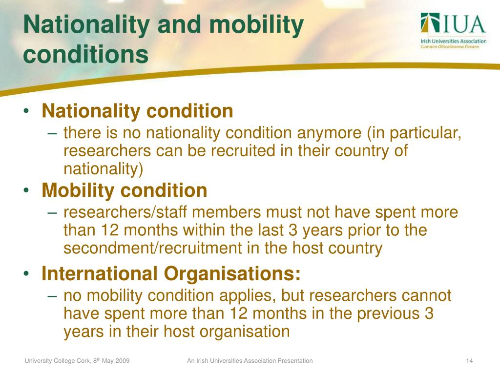 Nationality condition