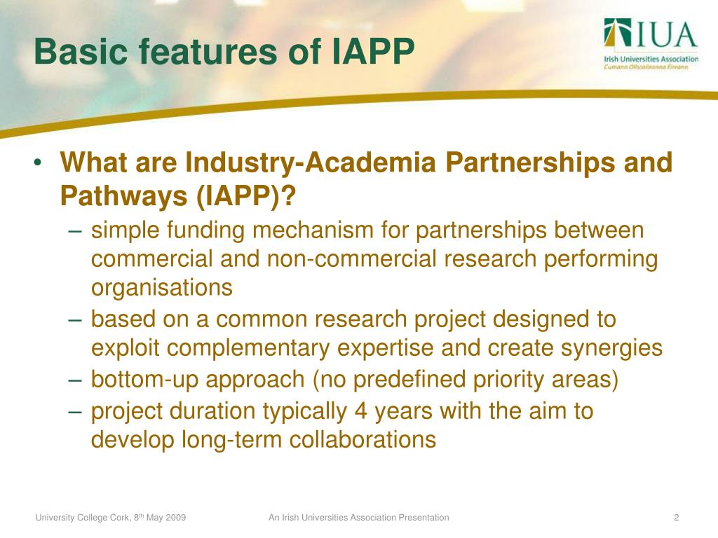 What are Industry-Academia Partnerships and Pathways (IAPP)?