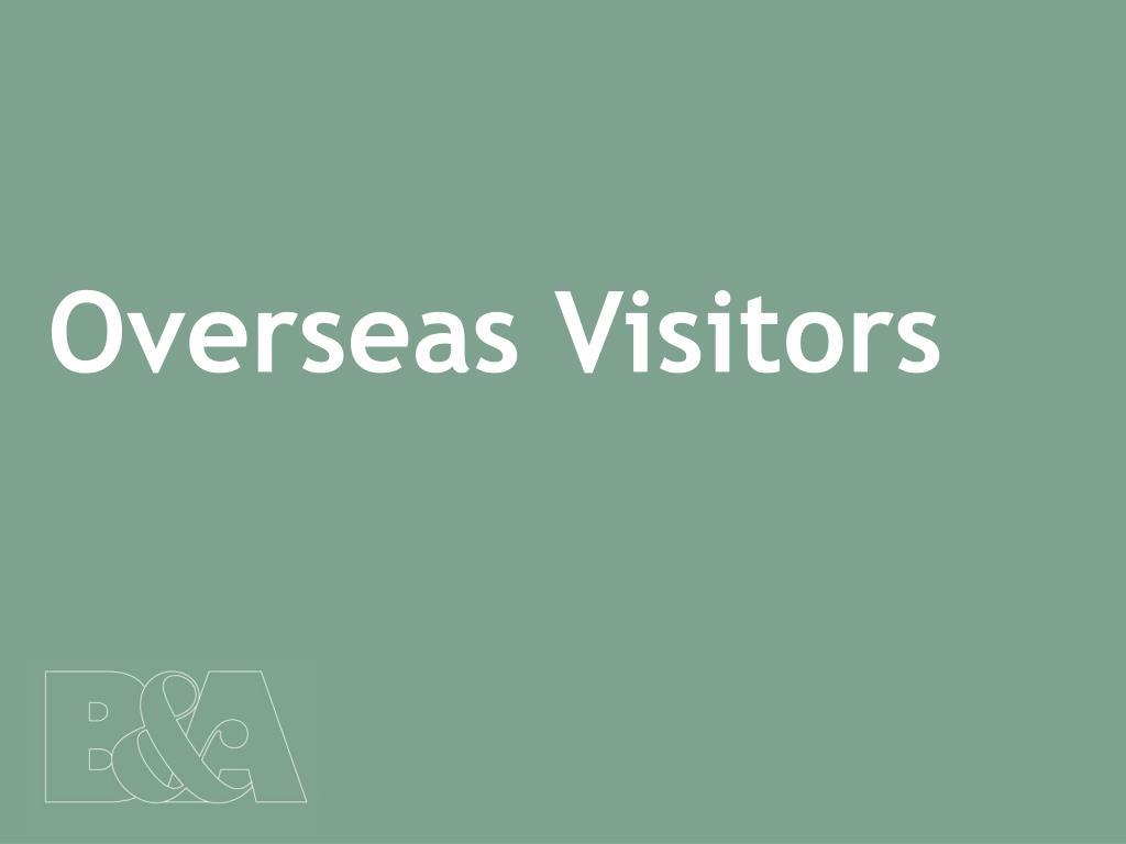 Overseas Visitors