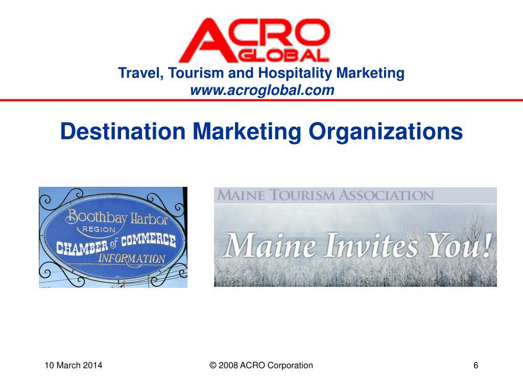 Destination Marketing Organizations