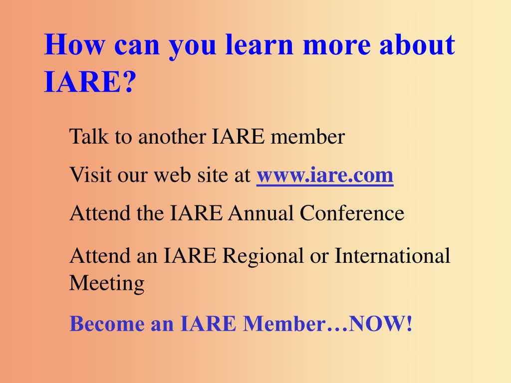 How can you learn more about IARE?