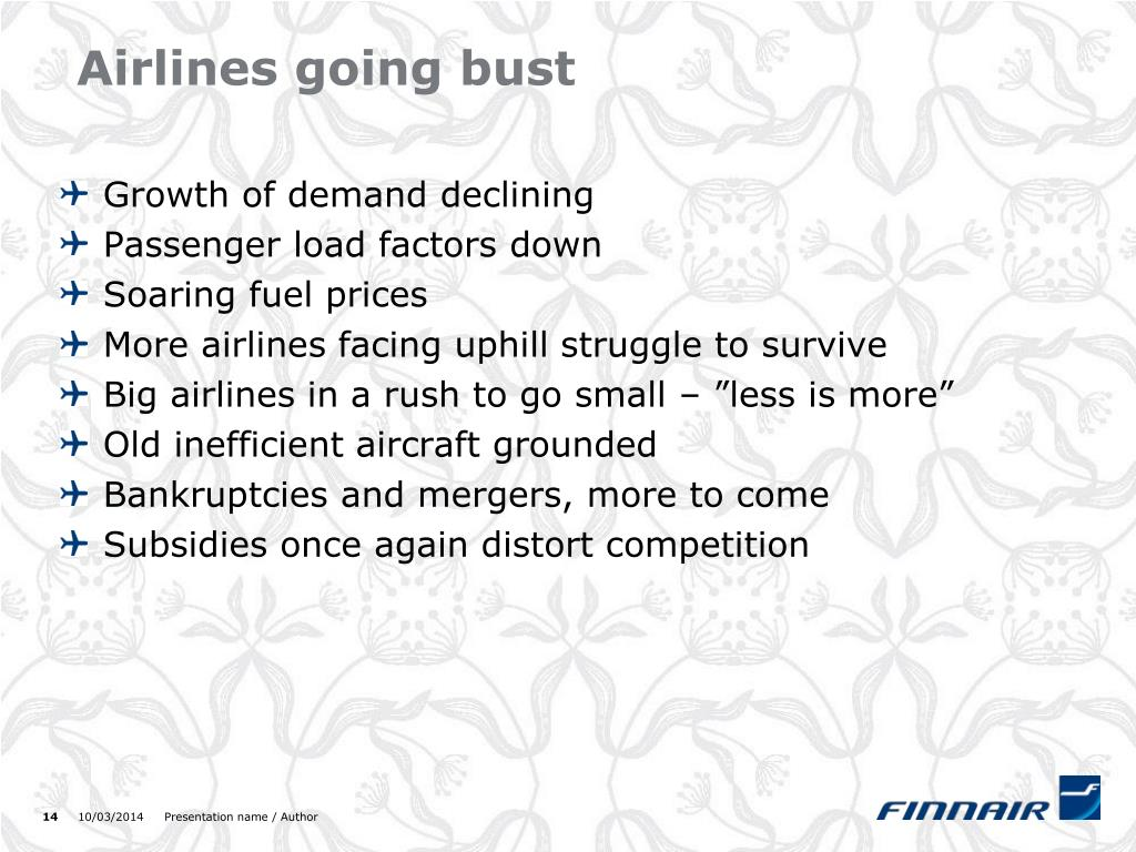 Airlines going bust