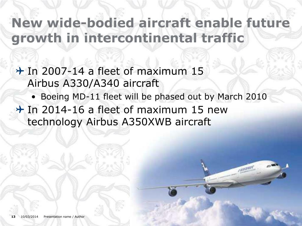 New wide-bodied aircraft enable future growth in intercontinental traffic