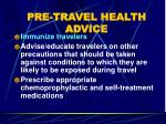 pre travel health advice11
