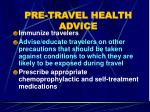 pre travel health advice38