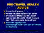 pre travel health advice49