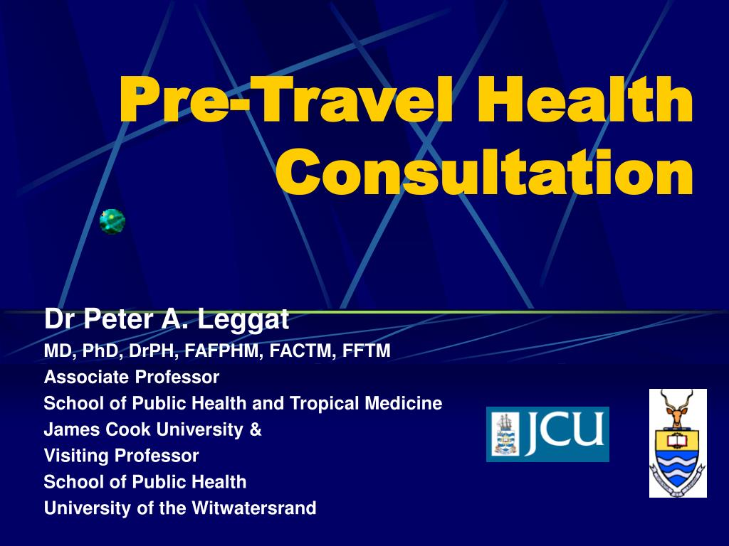 pre travel health consultation l.