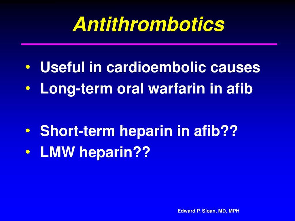 Antithrombotics