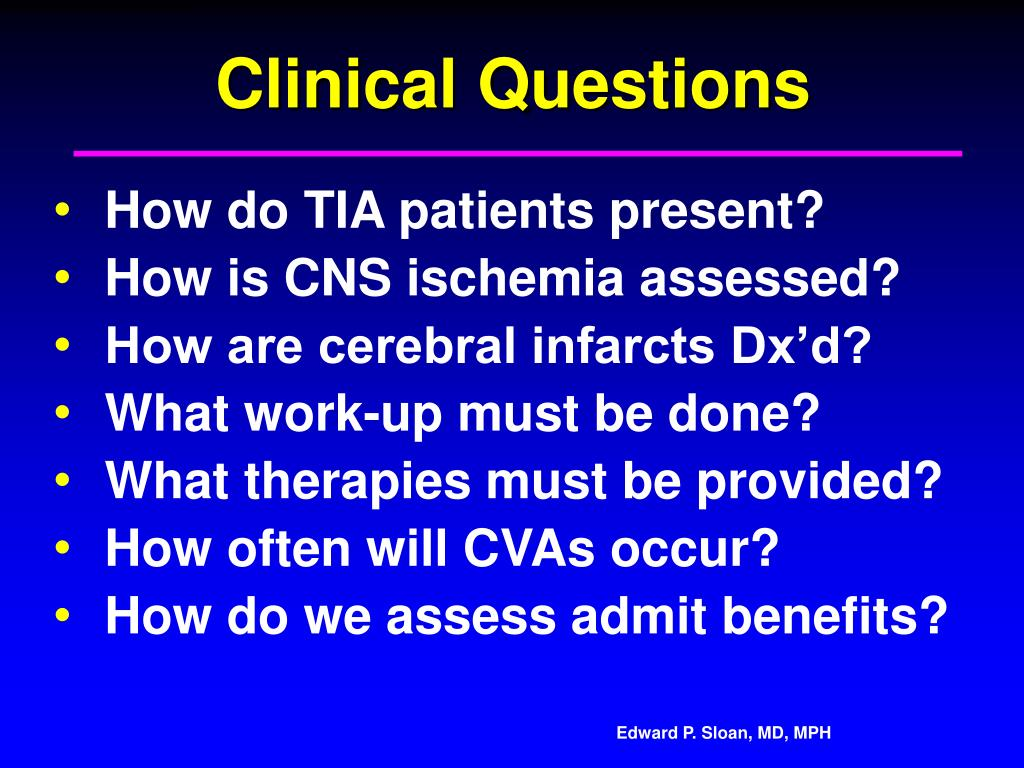 Clinical Questions