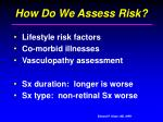 how do we assess risk