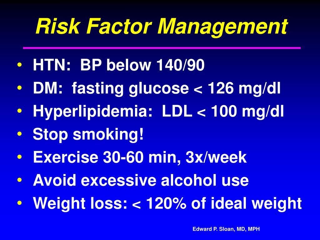 Risk Factor Management