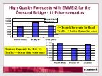 high quality forecasts with emme 2 for the resund bridge 11 price scenarios