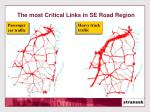 the most critical links in se road region