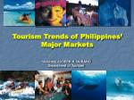 tourism trends of philippines major markets