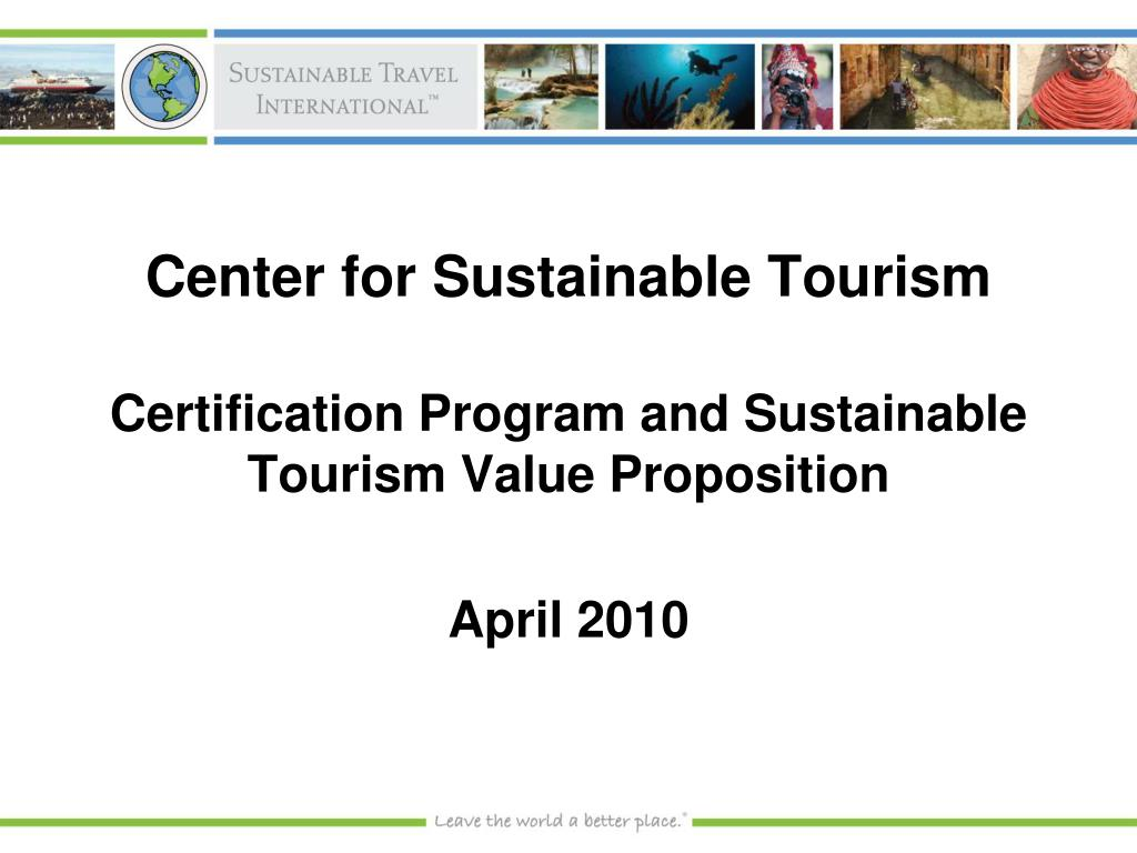 center for sustainable tourism l.