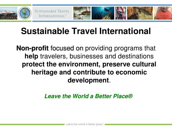 Sustainable travel international