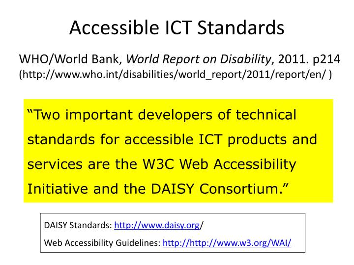 Accessible ict standards