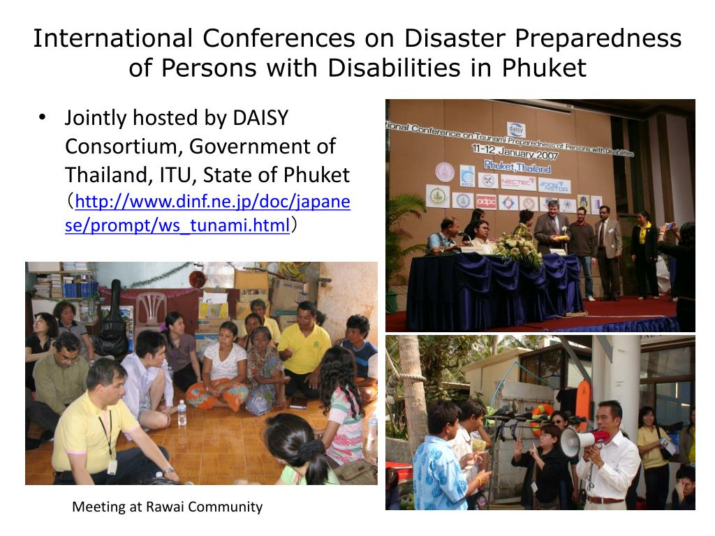 International Conferences on Disaster Preparedness of Persons with Disabilities in