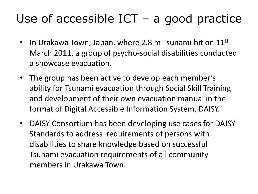 Use of accessible ICT – a good practice