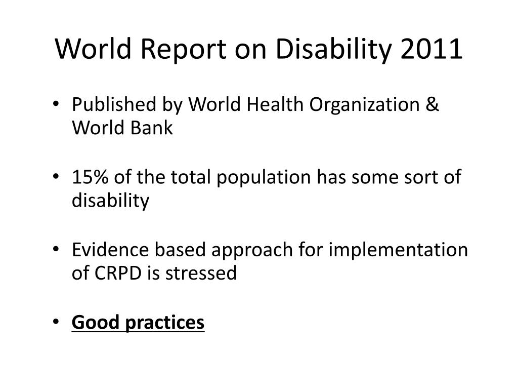 World Report on Disability 2011