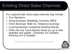 existing direct sales channels