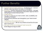 further benefits