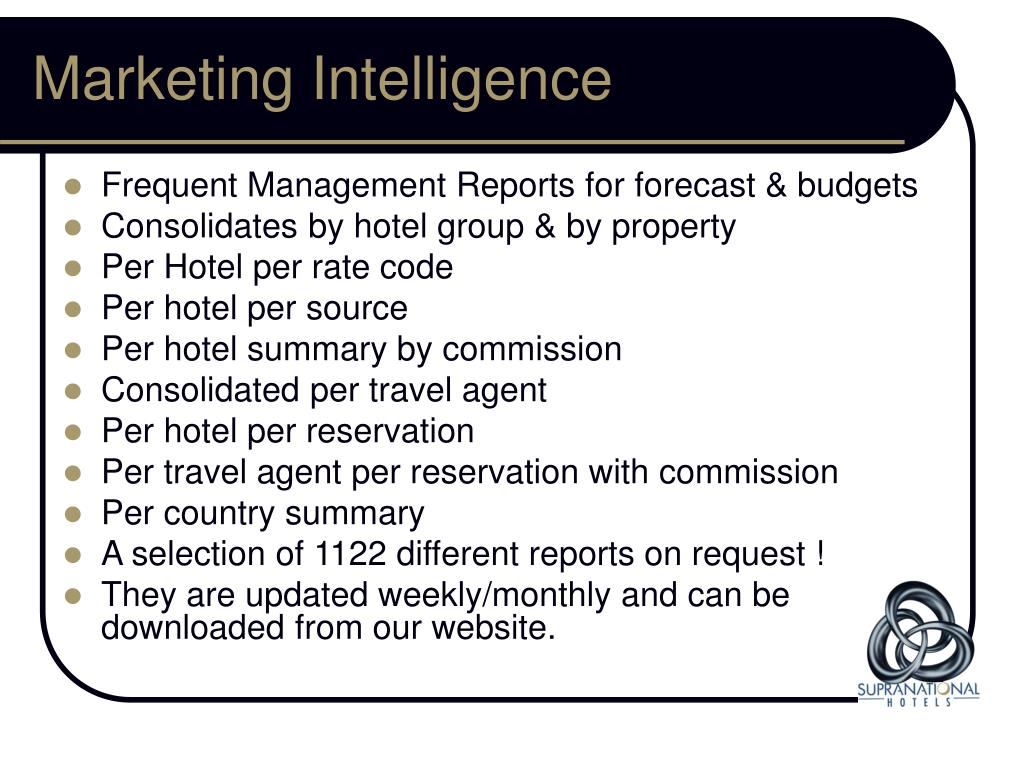 PPT - Supranational Hotels Ltd  Who We Are PowerPoint
