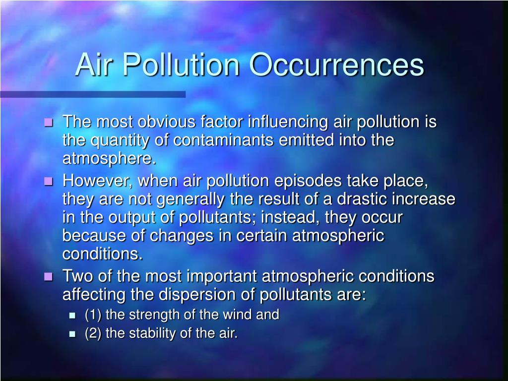 Air Pollution Occurrences