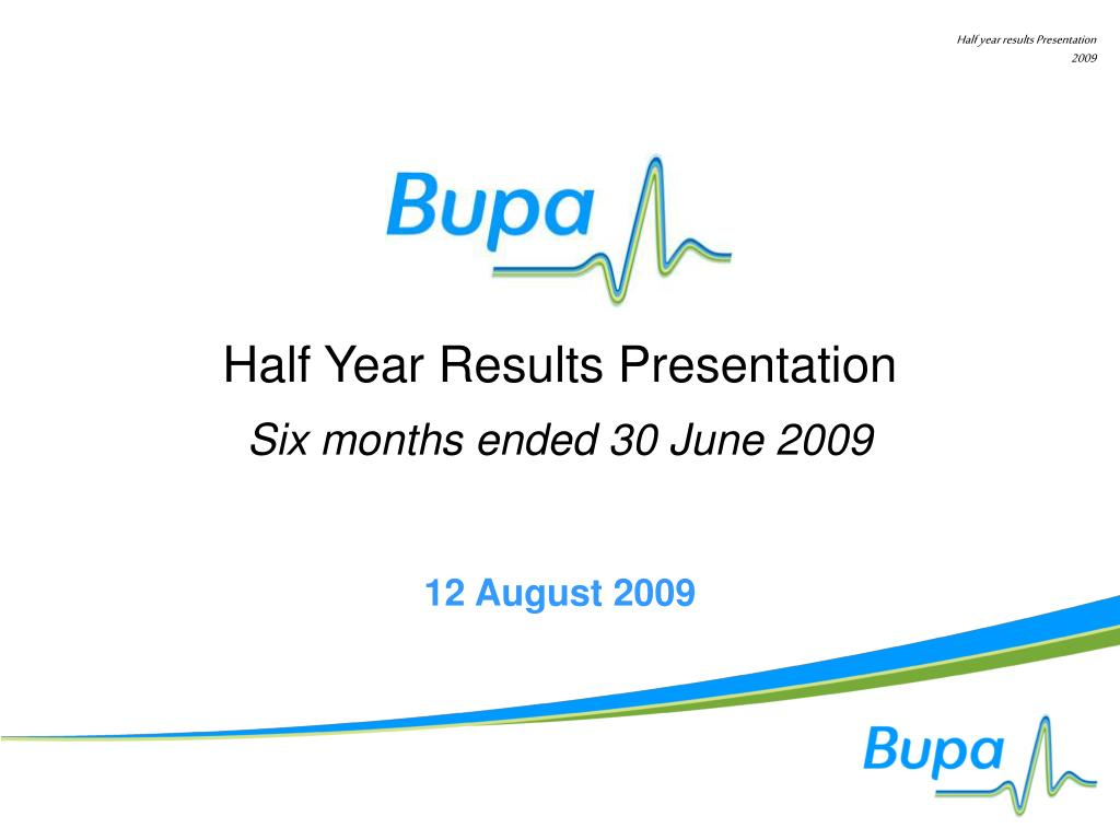 half year results presentation l.