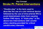 key concept stroke pt paired interventions