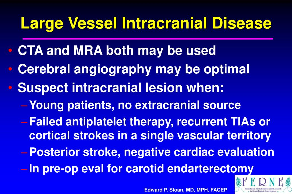 Large Vessel Intracranial Disease