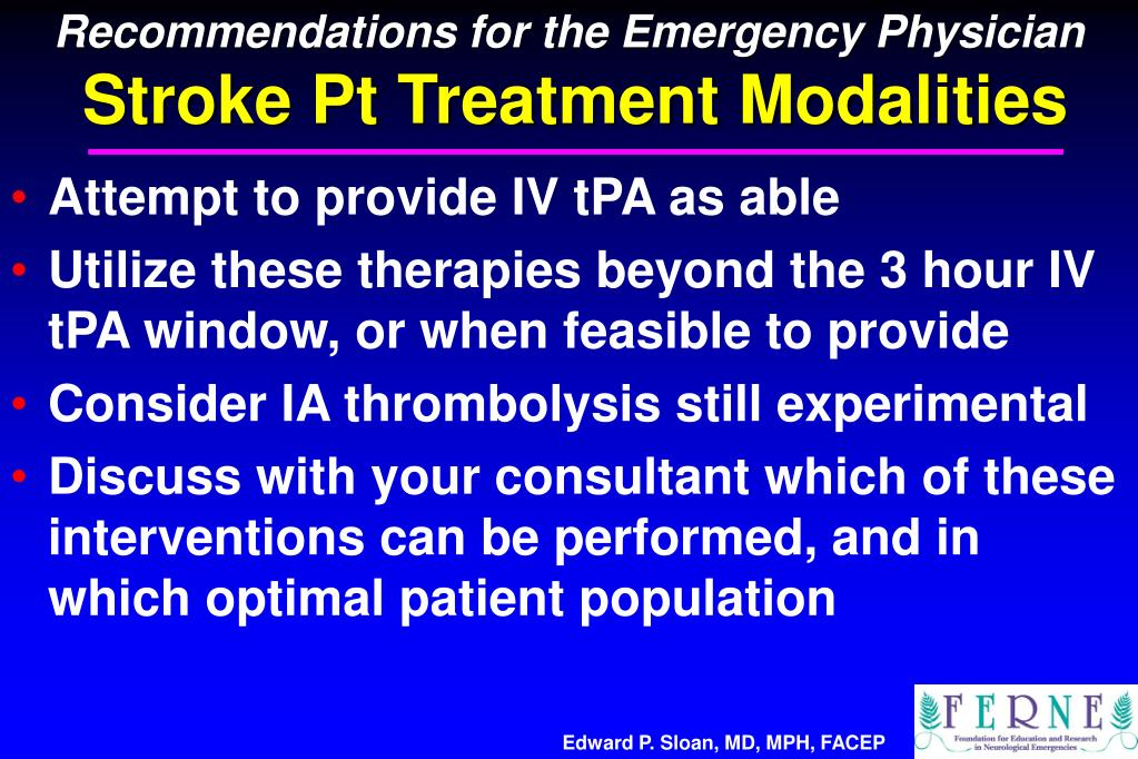 Recommendations for the Emergency Physician