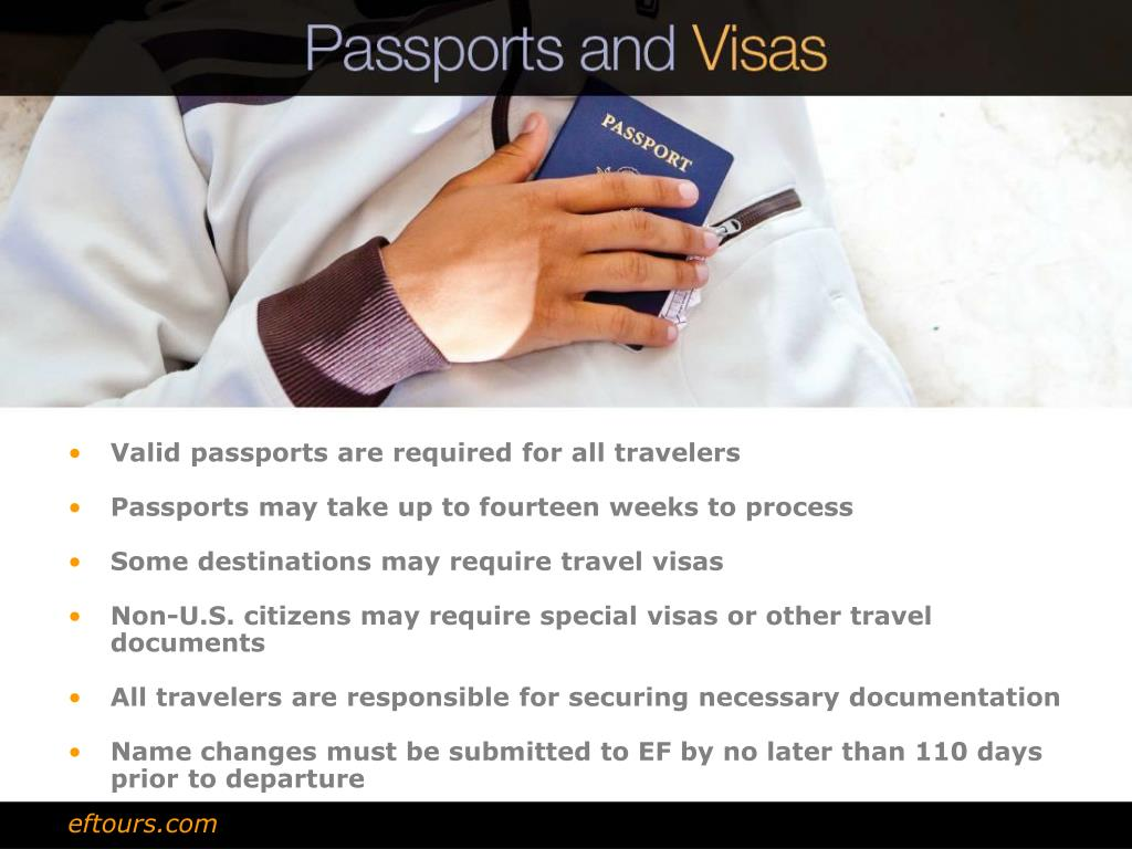 Valid passports are required for all travelers