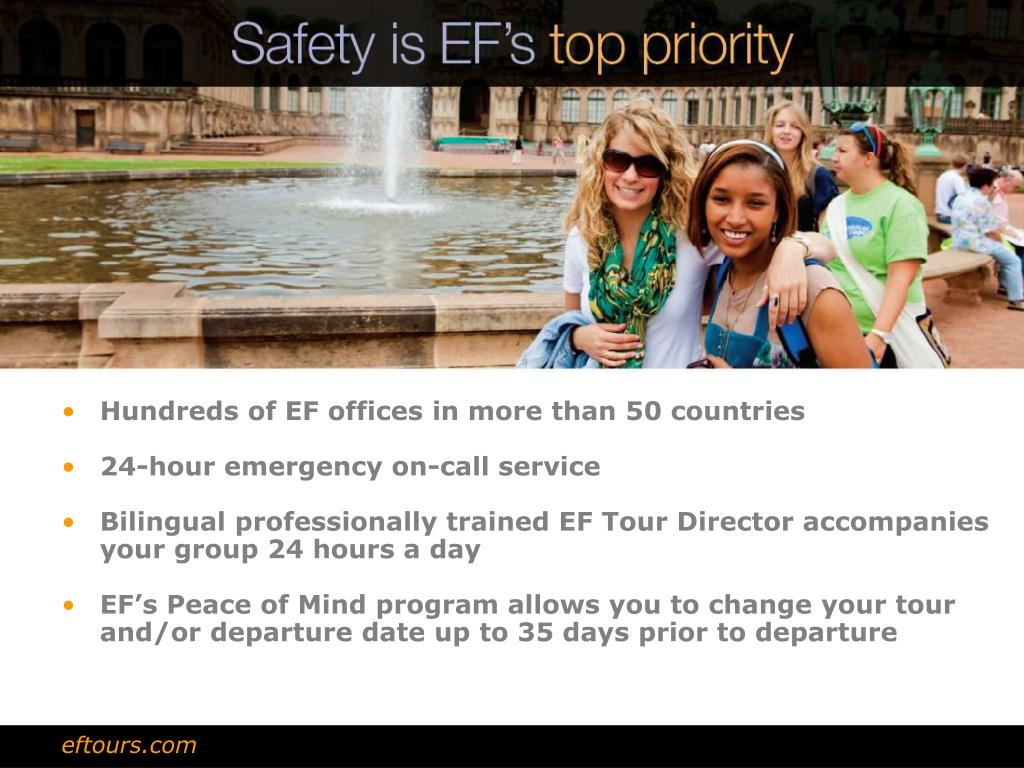 Hundreds of EF offices in more than 50 countries
