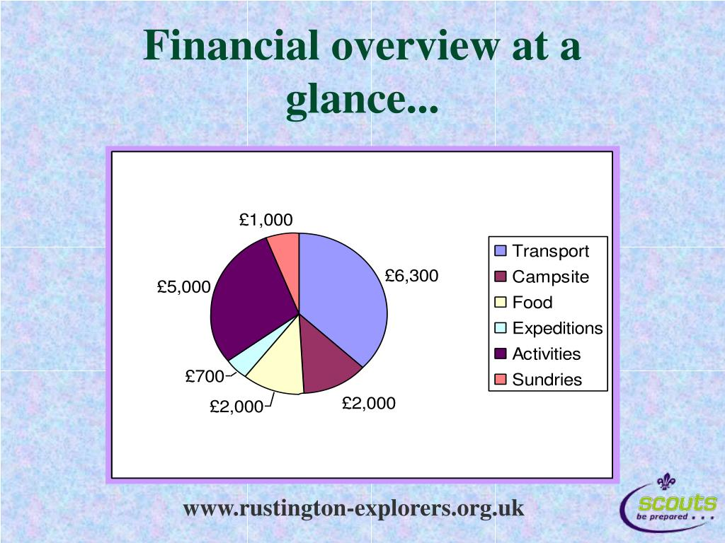 Financial overview at a glance...