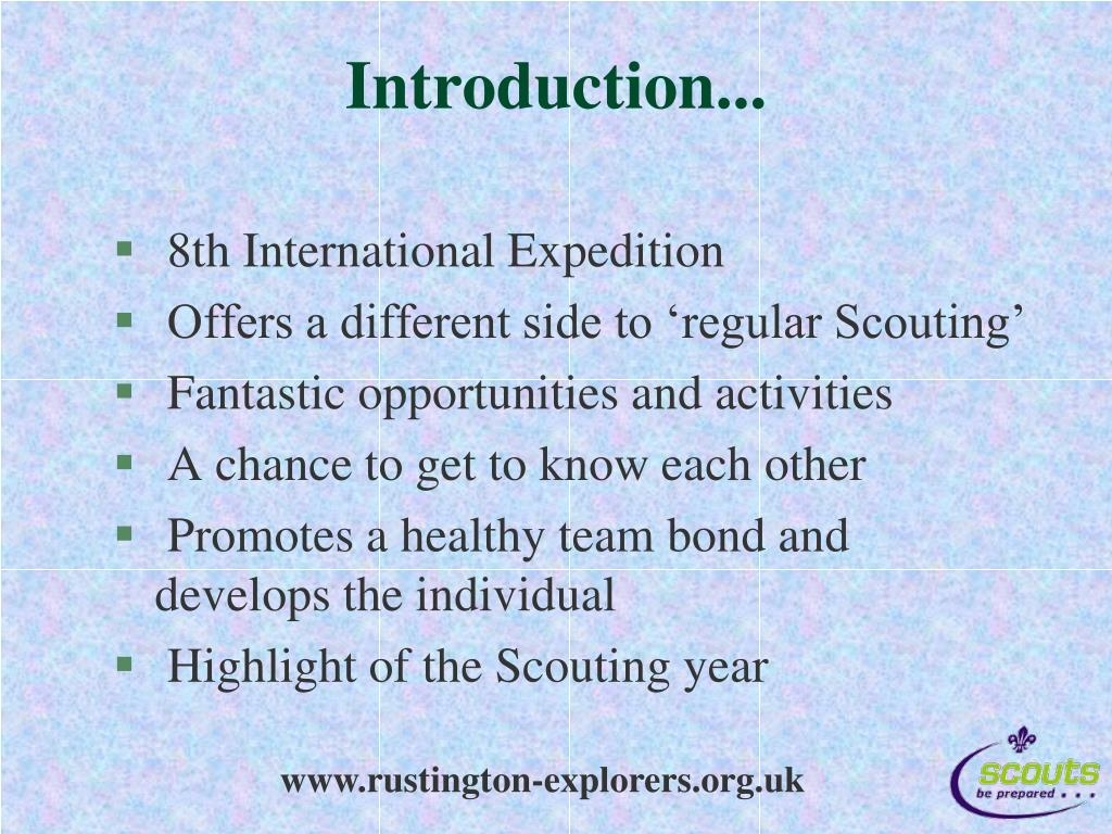 Introduction...