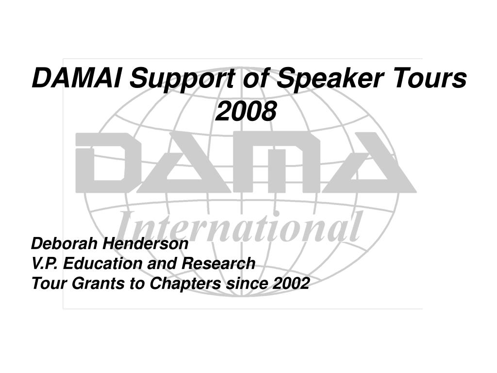 DAMAI Support of Speaker Tours
